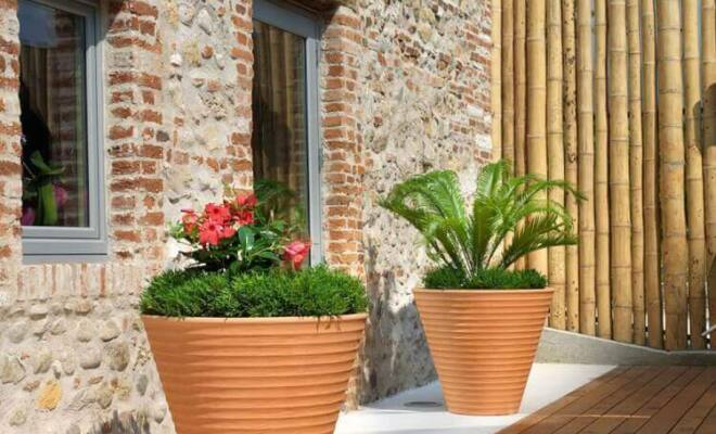 Vaso Africa - porta vaso colore terracotta